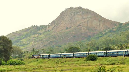 railfanning indianrailways locomotive trainspotting railroad train engine track panasonic lumix fz300 4k diesel wdp4d hhp rock nijagal betta tumakuru bangalore kjm krishnarajapuram