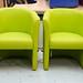 Green tub chairs