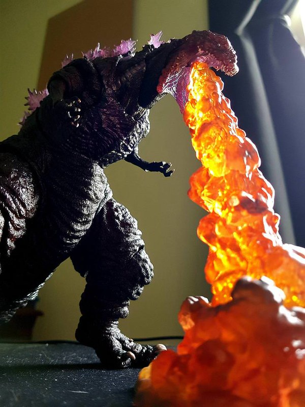 Shin Gojira figure arts fire breath
