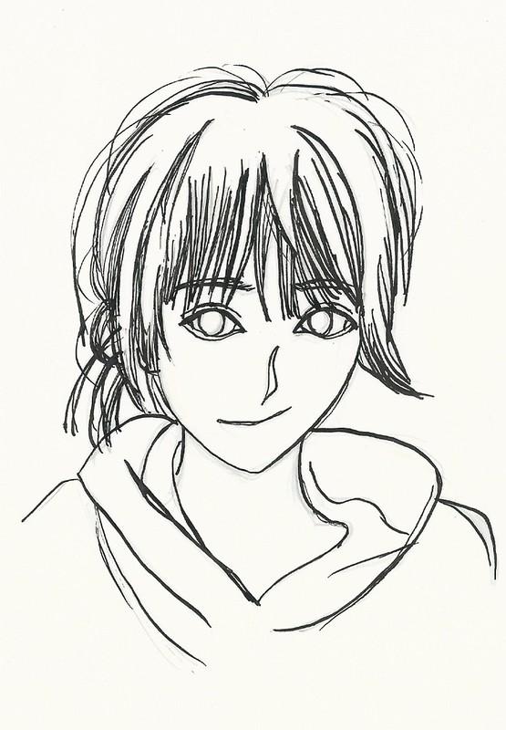 Michishige Sayumi First Manga pen drawing II