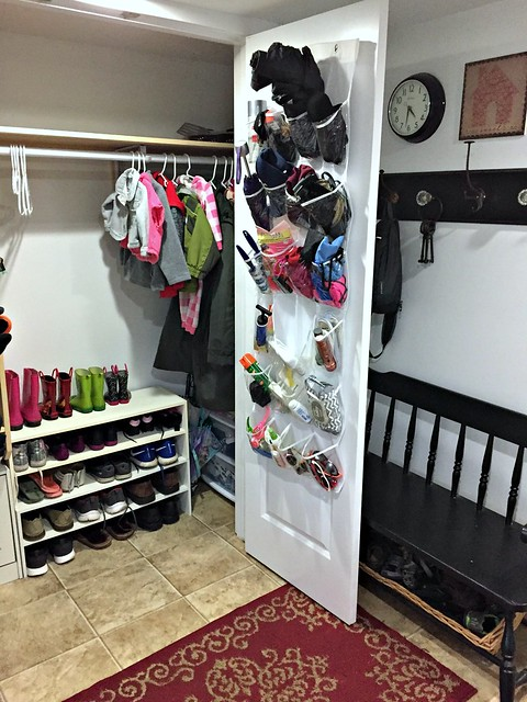 over-the-door shoe organizers for kids winter gear