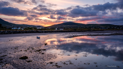 ballinskelligs harbour kerry ireland atlantic coast beach mountain cloud ocean evening summer wildatlanticway ringofkerry