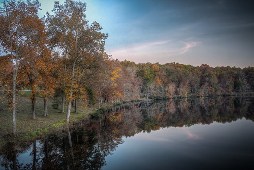 tennessee crossville byrdlake cumberlandcounty lake trees sky clouds reflections outdoors landscape autumn fall fallfoliage hdr canon 60d lightroom photomatixpro