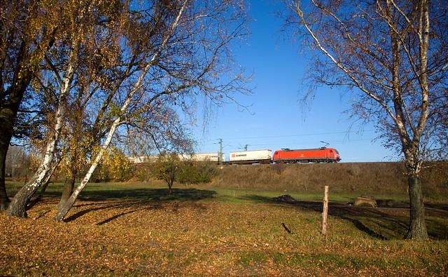 DB 152 022 + Güterzug/goederentrein/freight train  - Potsdam Wildpark West