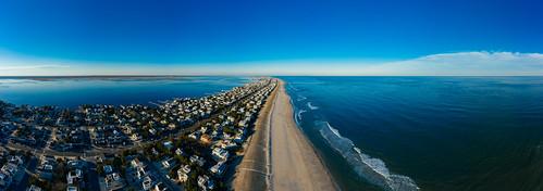 panorama sky clear surfcity newjersey unitedstates us longbeachisland mavic2pro ocean nj water aerialphoto oceancounty