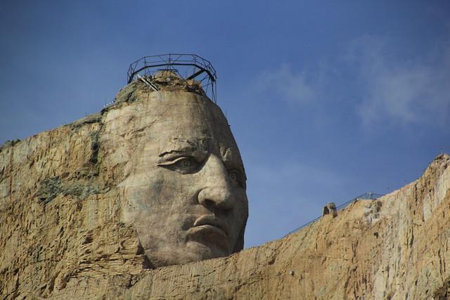 Crazy Horse Memorial, South Dakota, USA. (Started 1948)