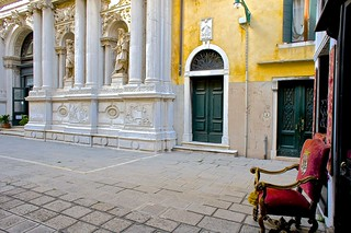 The prime colors of Venice's lesser known open spaces. Mastery in every genres and every medium# of visual arts. Detail flawlessly executed. A true gesamtkunstwerk.