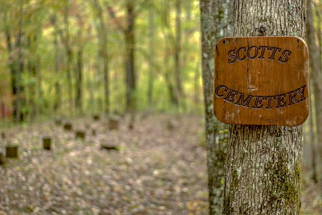 Scott Cemetery, Bridgestone Firestone WMA, White County, Tennessee