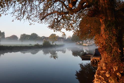 abingdon oxfordshire river thames sunrise morning