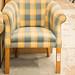Mixed fabric chair club E55