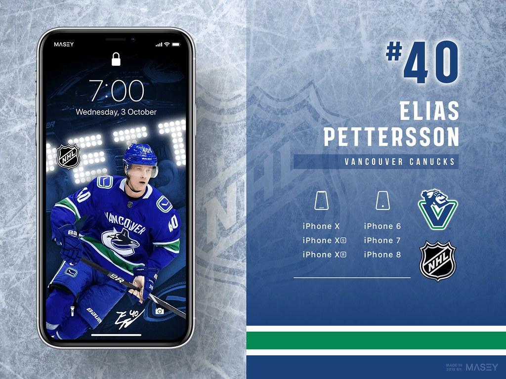 Elias Pettersson (Vancouver Canucks) iPhone Wallpaper
