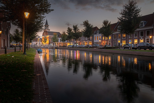 Weesp at blue hour