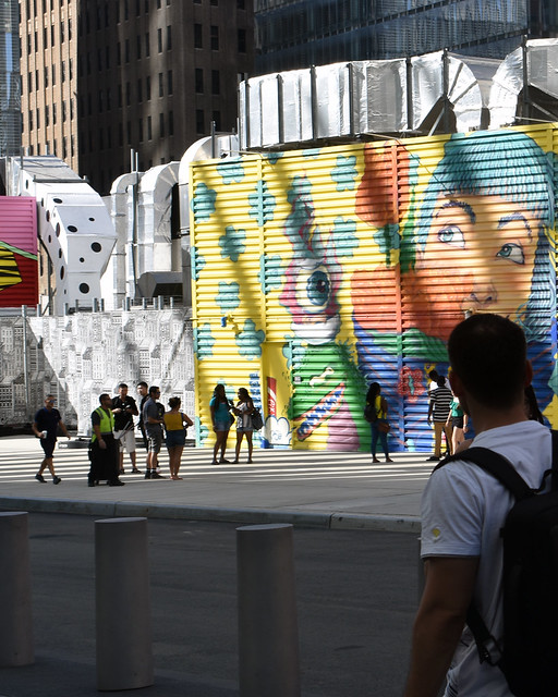 Watching the mural