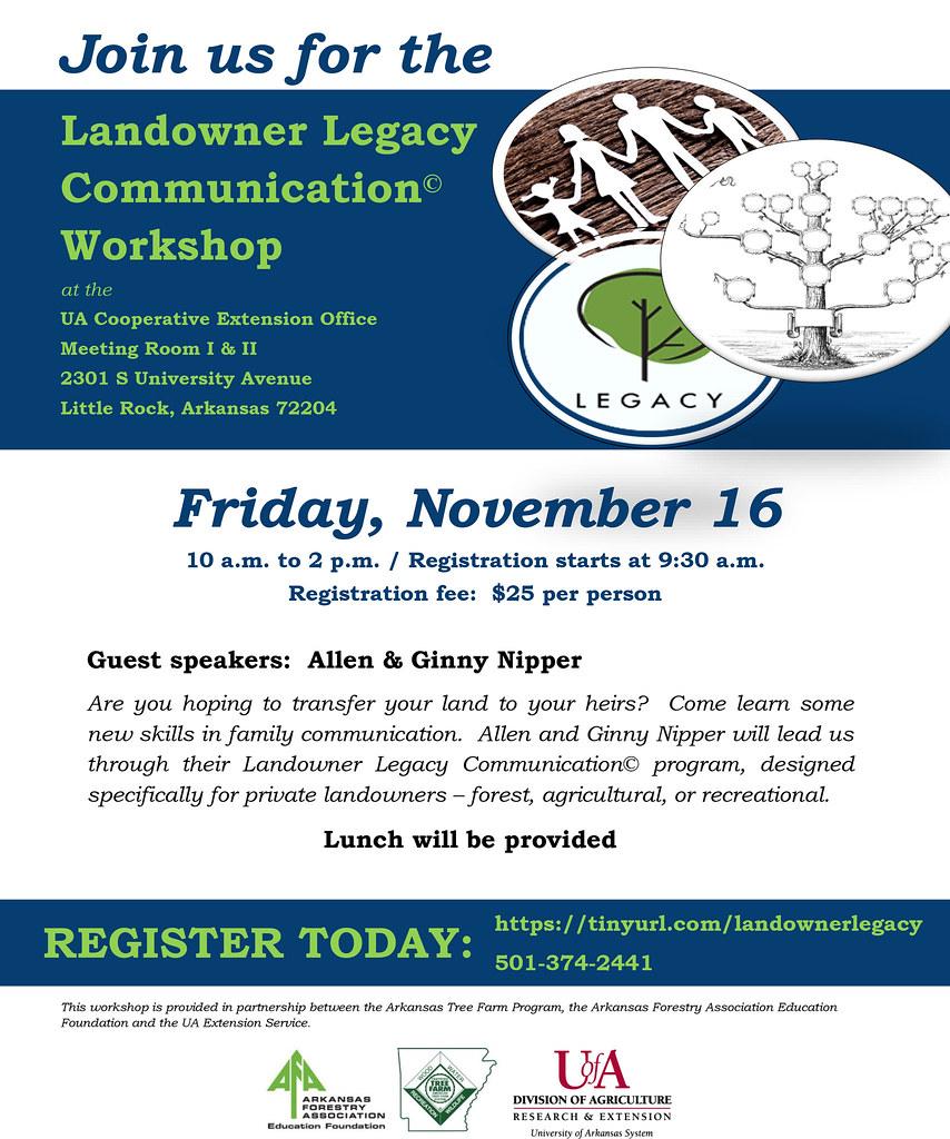 Nov  16 workshop set to help keep forest, ag or recreational lands