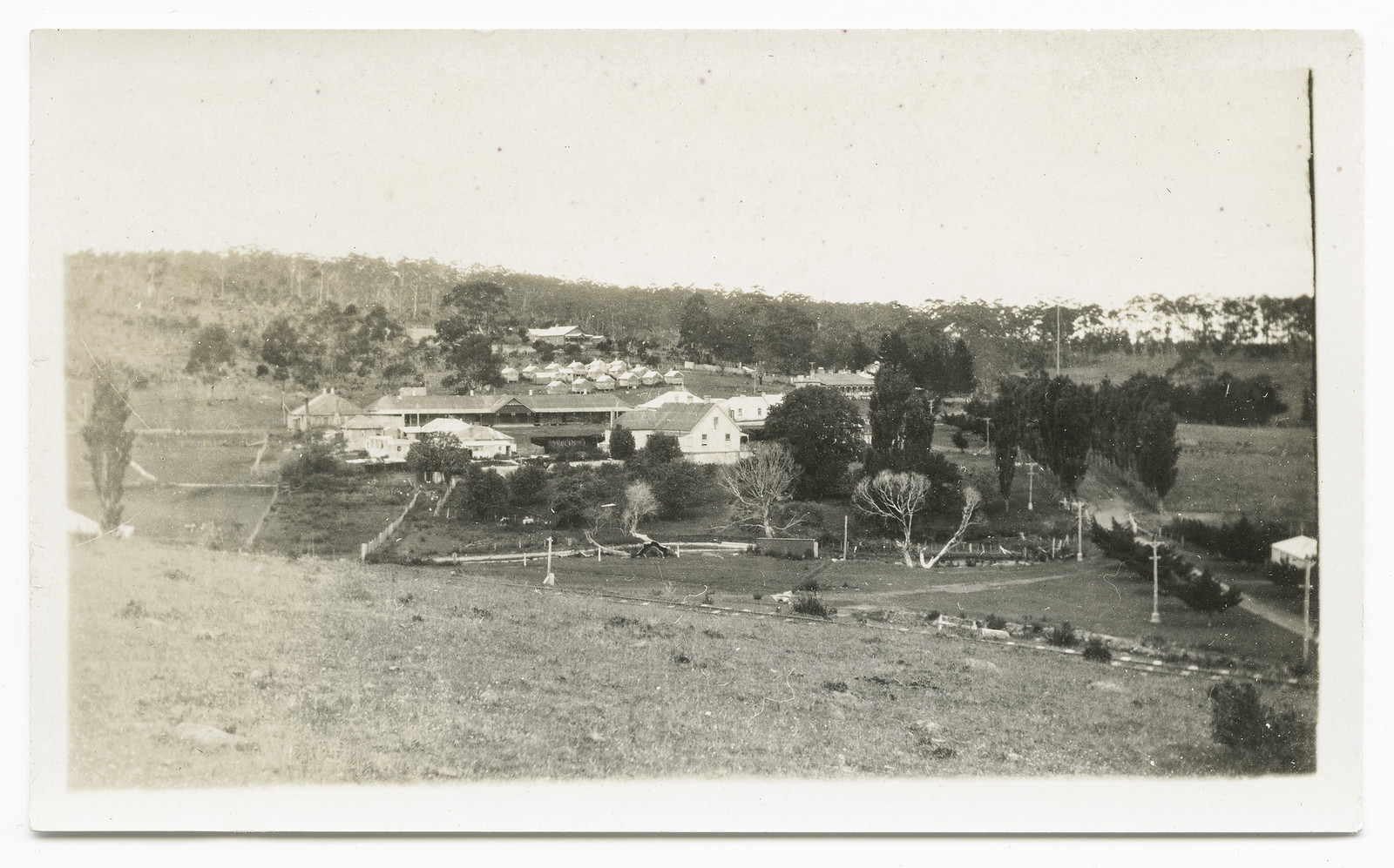 Maria Island - settlement of Darlington - view from hill (c1924)