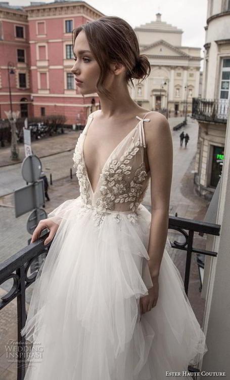 a331b68a1d Wedding Inspiration - (via Ester Haute Couture 2018 2019 Wedding Dresses