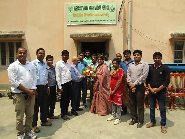 Smt. Roopa Ganguly, Hon'ble Rajyasabha M.P. visited the SSKVK