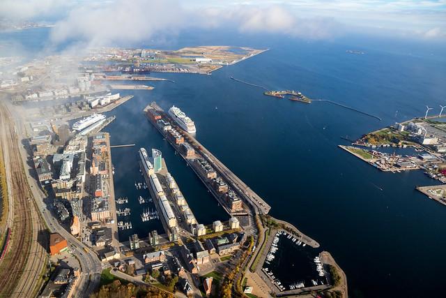 Langelinie, Nordhavnen og Trekroner...