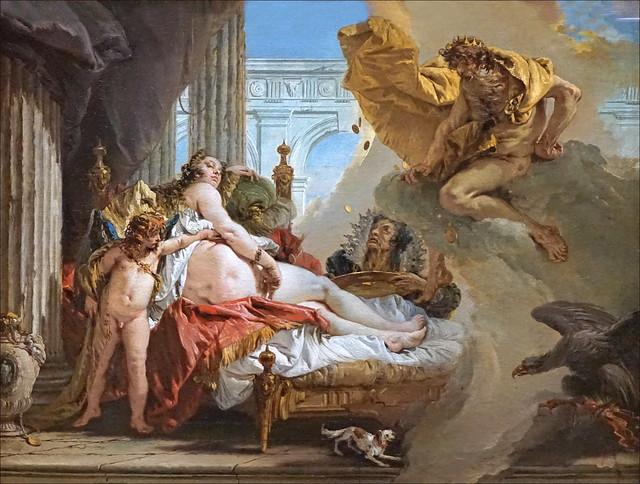 Jupiter et Danaé de Giambattista Tiepolo (Grand Palais, Paris)