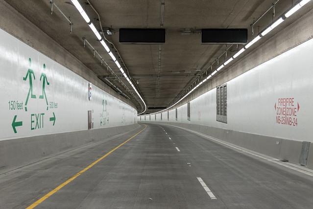 Northbound deck of the SR 99 tunnel