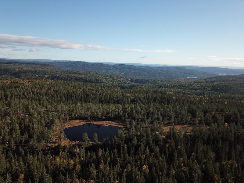 20-Utsikt østover fra Flagervann (drone)
