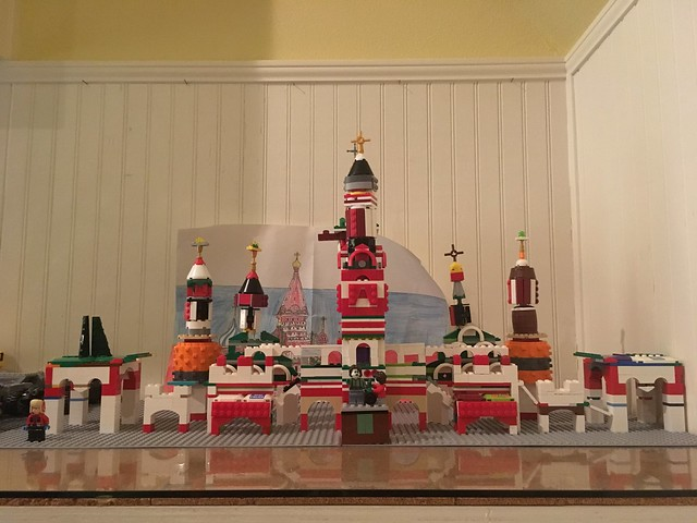 Lego Creator St Basil's Cathedral MOC prototype