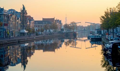 haarlem noordholland nederland nl spaarne sunrise cffaa