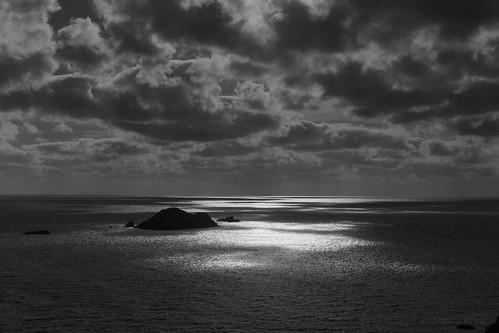 50mm bw blackandwhite canon6d pembrokeshire uk wales bold clouds coast dark dramatic enchanting island ocean primelens sea sky spiritual sunshine wonder
