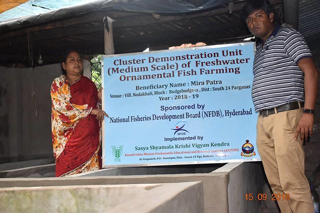 Sponsored Programme under Fisheries 2018 at Sasya Shyamala Kvk