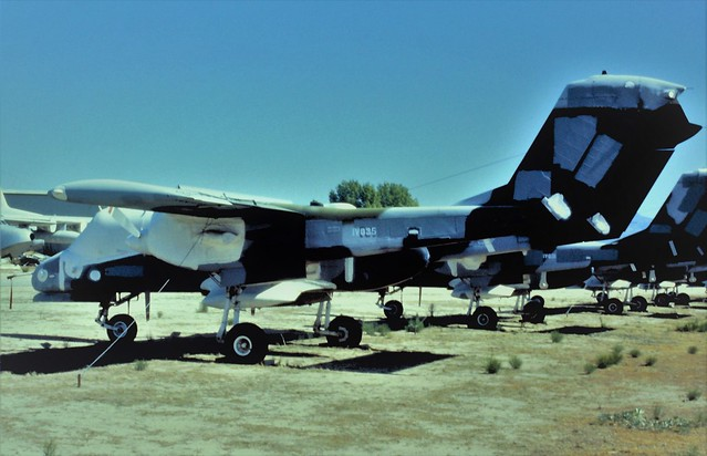 OV-10D Bronco 155445 (BuNo scrubbed out but with AMARC code 1V035) ex U.S.Marines/ USMC. Stored with Air-Pro/ Western International Aviation, Tucson, Arizona. October, 1995.(Scanned from Dia)