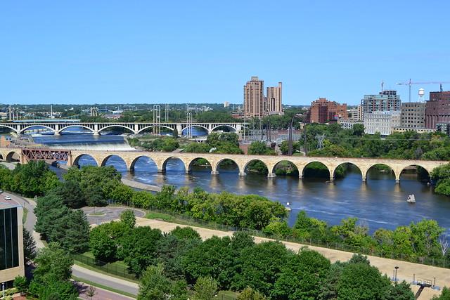 St. Anthony Falls and Mississippi River Bridges, Minneapolis