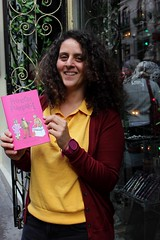 Sat, 01/01/2000 - 00:02 - An excellent photo of Film Director Yasmin Fedda @YazAboutTown with a copy of the second Princess Pumpalot book 'Princess Pumpalot: The Super-Farting Bean Mystery' by @Robin_Mitchell #Fart2018