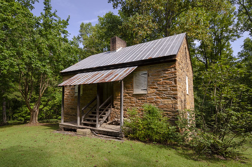 oconee station the south carolina landscape outdoors woods forest trees stone blockhouse fort fortification circa 1792 building architecture history historic old