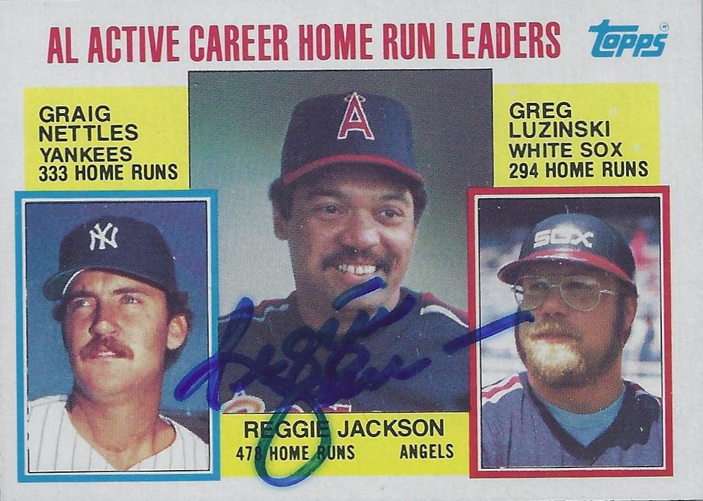 1984 Topps Al Active Career Home Run Leaders 712 Regg