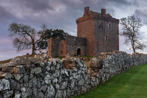 balvairdcastle castle sunrise wall stonewall goldenhour clouds fife scotland nikond7200 sigma350mmf14