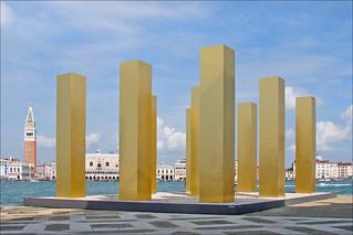 Heinz Mack sur l'île de San Giorgio Maggiore, à Venise