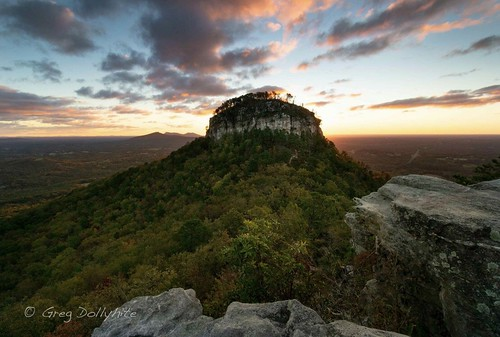 Early morning glow. Pilot Mountain State Park