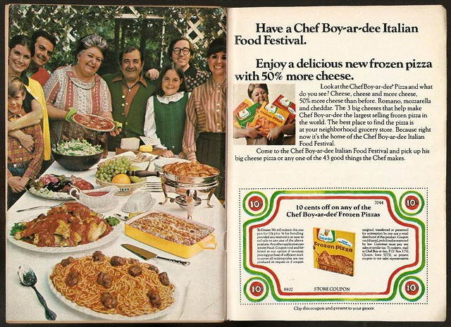 1970 Chef Boy ar dee Ad Frozen Pizza Coupon
