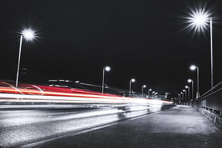 Street light's long exposure