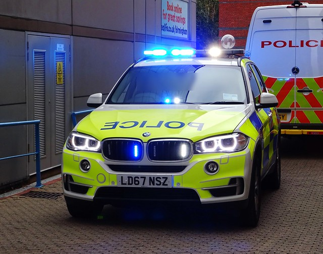 BMW X5 Police Demonstrator (Armed Response Vehicle), LD67 NSZ, Birmingham City Centre.