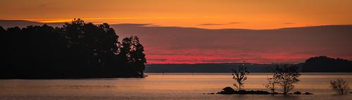 sunrise panoramic panorama light early morning canon 70d eos lake lanier ga georgia lakelanier