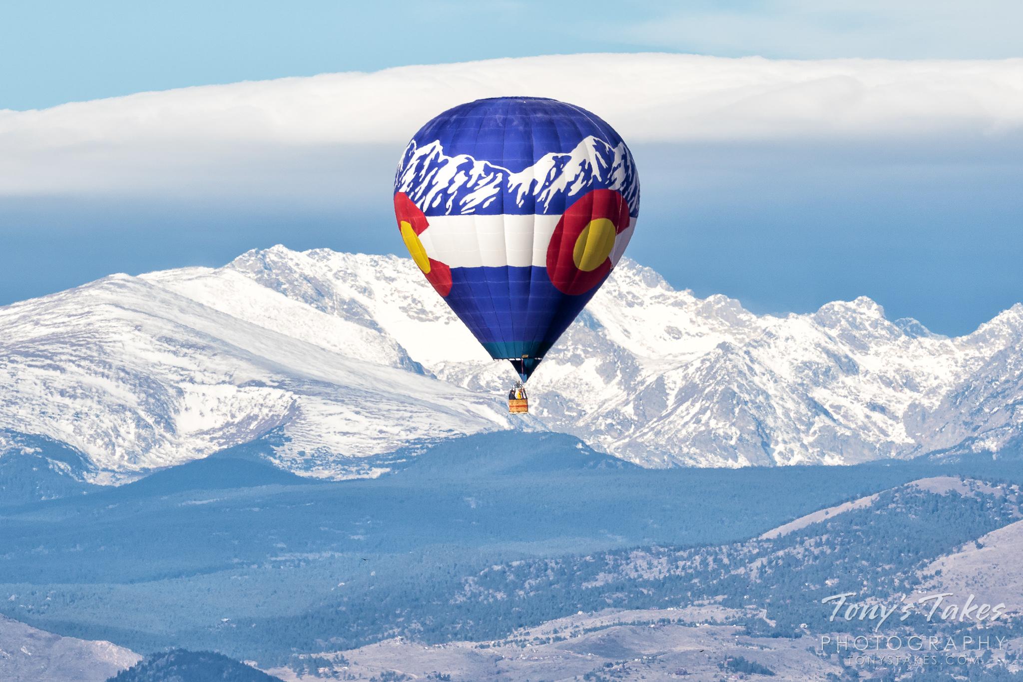 When art (or a hot air balloon) reflects nature