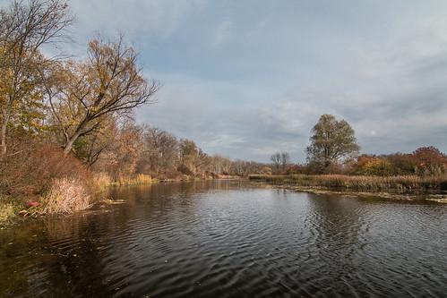 water autumn river nature landscapes ukraine travel kremenchuk