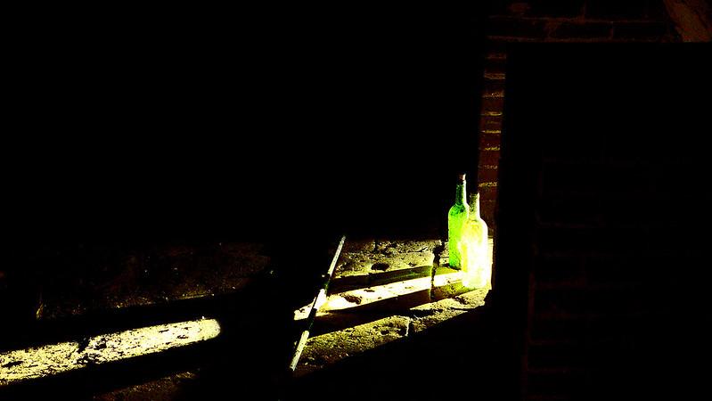 Bottles in the dark