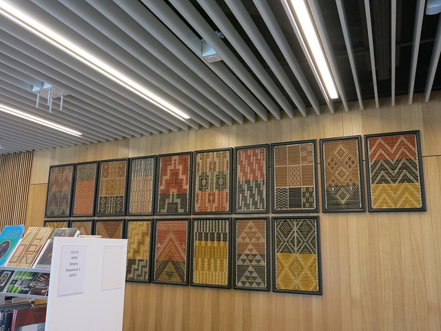 Tukutuku panels installed at Tūranga