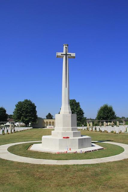 The Cross of Sacrifice, Bayeux, France. WW2 D-Day.