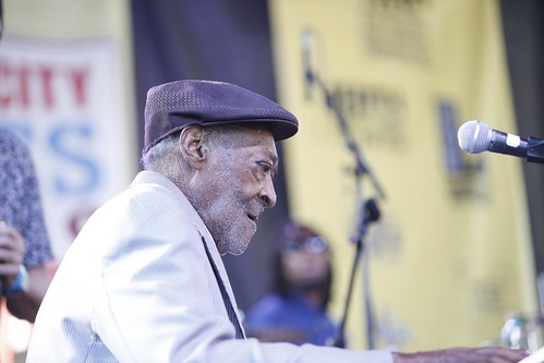 Henry Gray at Crescent City Blues & BBQ Fest - 10.14.18. Photo by Michele Goldfarb.