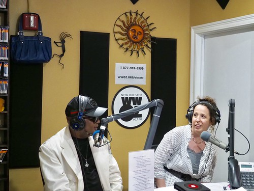Action Jackson and Ariana Hall on the air - 10.18.18. Photo by Michele Goldfarb.