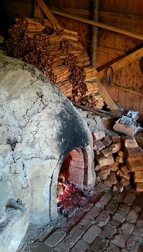 japan hokkaido at shari pottery kiln sharigama noborigama fire blaze flame