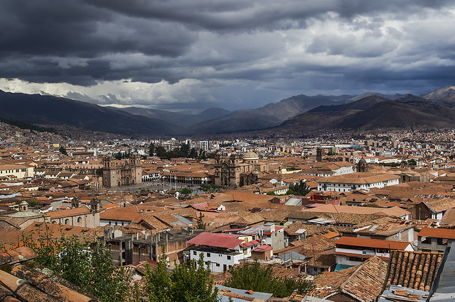 Cusco, Peru from northwest of the Plaza de Armas